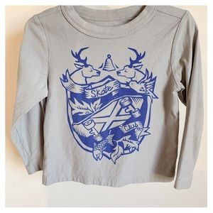 TEA COLLECTION Skate Crest Graphic Long Sleeve Tee